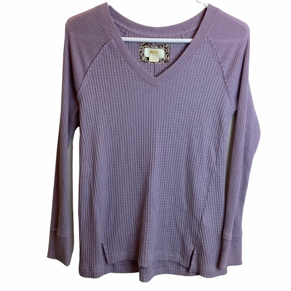 Anthropologie Maeve Dusty Lavender Thermal